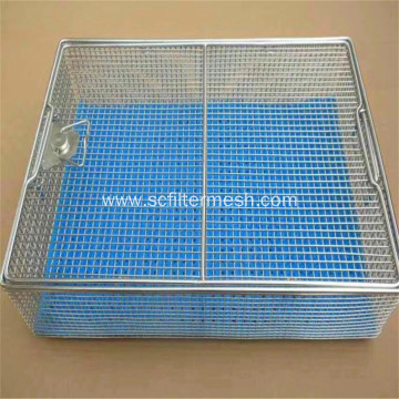Stanless Steel Wire Mesh Storage Baskets with Lids